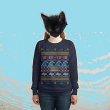 kitten in ugly summer sweater