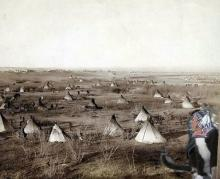 cat at a Sioux village