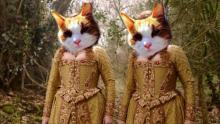 orange cat queen elizabeth I and a zygon